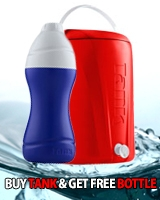 Ice Tank 13 Liter Red + Free Ice Bottle 0.75 Liter Blue - Tank