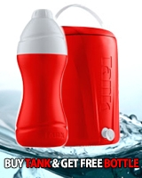 Ice Tank 13 Liter Red + Free Ice Bottle 0.75 Liter Red - Tank