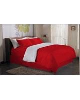 Plain Duvet Cover Fashion Poppy Red - Comfort