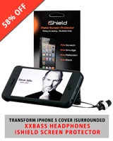 iTransform iPhone 5 + I Surround XXBass Headphone +I-Shield Screen - iTronz