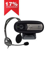Webcam C170 + Stereo Headset H110 - Logitech