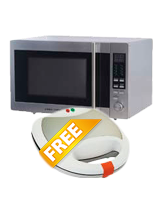 Microwave Oven with Grill MZ30PGSSI + Slot Sandwich Maker TS 2000 - Black & Decker