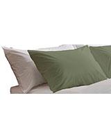 Fashion pillowcase 144 TC Olive gray color - Comfort