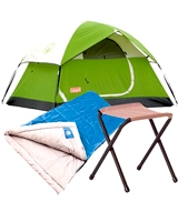 Sundome Tent + Trinidad Sleeping bag + Stool rambler II - Coleman