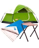 Sundome Tent + Trinidad Sleeping bag + Stool rambler II - Coleman