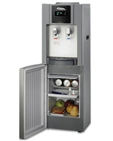 Water Dispenser with LED Screen with MCC Refrigerator Medium Silver/Dark Silver - Koldair
