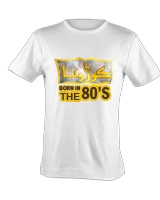 "Born in the 80's ""Corona"" White T-Shirt - Ultimate"