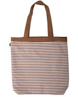 Pink Horizontal stripes canvas tote bag - Ultimate