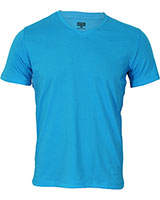 V-Neck Basic T-Shirt 02HN055 Turquoise - Dandy