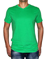V-Neck T-Shirt Apple Green - KAF