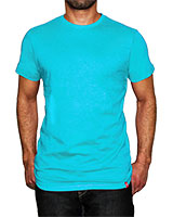 Crew Neck T-Shirt Aqua Blue - KAF