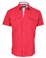 Short Sleeve Shirt 33KU001 Red - Dandy