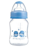Wide Neck Curved PP Bottle 230ml KU5913 - ku-ku