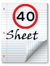40 Sheet+