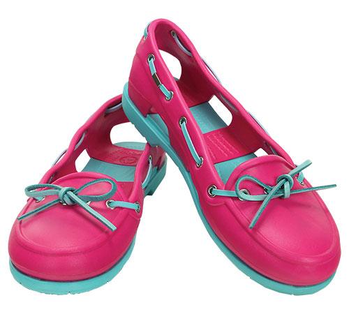 996c705bf3bca Women s Beach Line Boat Shoe Candy Pink Pool 14261 - Crocs    Women ...