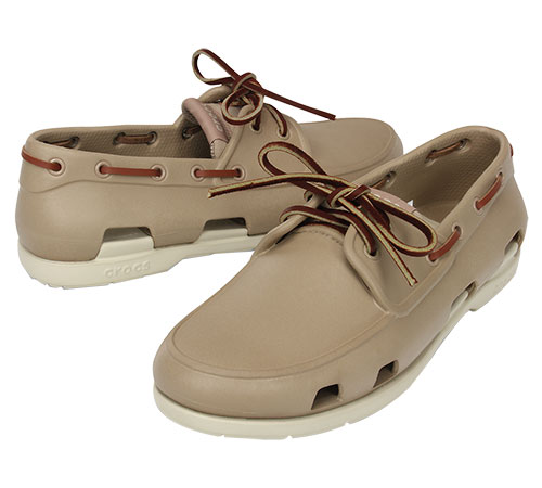 c20372d8c5eff0 Men s Beach Line Boat Shoe Tumbleweed Stucco 14327 - Crocs. Click to zoom