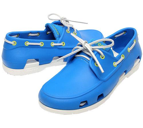 64e4f02d9a9 Men's Beach Line Boat Shoe Ocean/White 14327 - Crocs :: Men Footwear ...