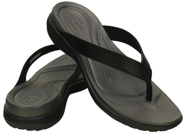 ce3245abad2b Women s Capri V Flip Black Graphite 202502 - Crocs    Women Footwear ...