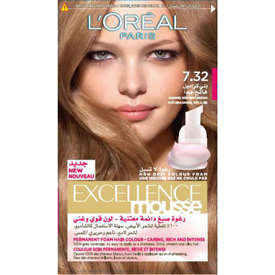 Excellence Mousse Caramel Very Light Brown 7 32 L Oreal
