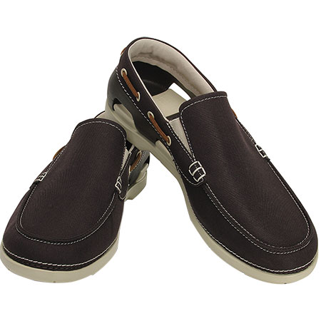 2bcd7a104445f Men s Beach Line Boat Slip-On Espresso Stucco Shoe 15386 - Crocs. Click to  zoom