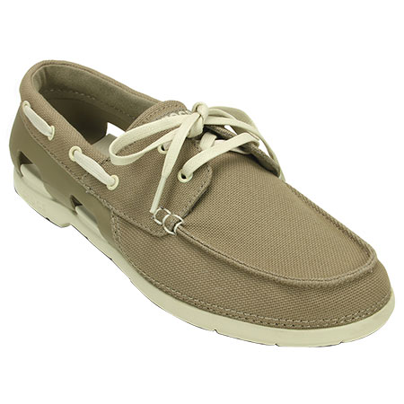 cd1752b3889bd Men s Beach Line Lace-Up Boat M Khaki Stucco Shoe 200247 - Crocs. Click to  zoom