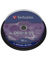 DVD+R 8.5GB Matt Silver Double Layer 10 PK - Verbatim