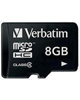 MicroSDHC Class 4 Memory Card 8GB - Verbatim