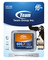 CF Card 16GB - 600X TCF16G60001 - Team