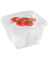 Fresh Container 1.0L Square Set Of 3 Pieces With Decoration - Snips