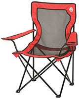 Broadband quad chair red with cup holder 076501081992 - Coleman
