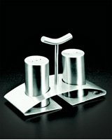 Stainless Steel Salt & Pepper with stand - Metaltex