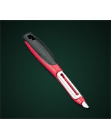 Potato Peeler with a long red plastic handle - Metaltex