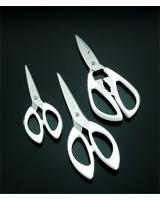 Stainless Steel Scissors Set of 3 Pieces - Metaltex