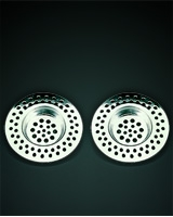 Stainless Steel Set of 2 Sink Strainers Carded - Metaltex