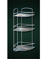 Corner Metallic Shelf with 3 layers Onda - Metaltex