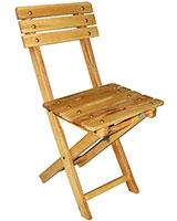 Small Wood Folding Chair - Safari