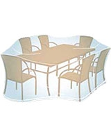 Rectangular/Oval dining set PVC Cover Large - Campingaz