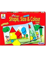 My First Shape, Size & Colour Game Puzzle - Frank