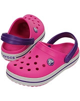 Kids' Crocband Neon Magenta/Neon Purple 10998 - Crocs