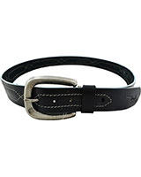 Black Genuine Leather Belt 3.5cm 11-07-1303-01 - Oryx