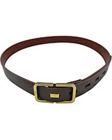 Dark Brown Genuine Leather Belt 3.5cm with Rectangle Buckle 18mm 11-07-5000-03 - Oryx