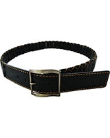 Black Genuine Leather Belt Matte 4cm 11-08-0020-01 - Oryx