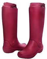 Women's RainFloe Boot Pomegranate/Pomegranate 12424 - Crocs