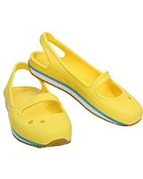 Girls' Retro Mary Jane Sunshine/White 14009 - Crocs