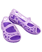 Kids' Adrina Hearts C Iris/Neon Purple Mary Jane Flat 14094 - Crocs