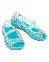 Kids' Adrina Hearts C Sea Foam/Surf Mary Jane Flat 14094 - Crocs