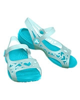 Kids' Adrina Hearts C Sea Foam/Surf Sandal 14095 - Crocs