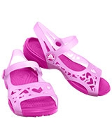 Kids' Adrina Hearts C Sandal Carnation/Neon Magenta Sandal 14095 - Crocs