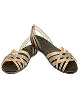 Women's Huarache Flat Bronze/Espresso 14121 - Crocs