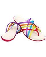 Women's Huarache Flip-Flop Multi/Geranium Flip 14122 - Crocs